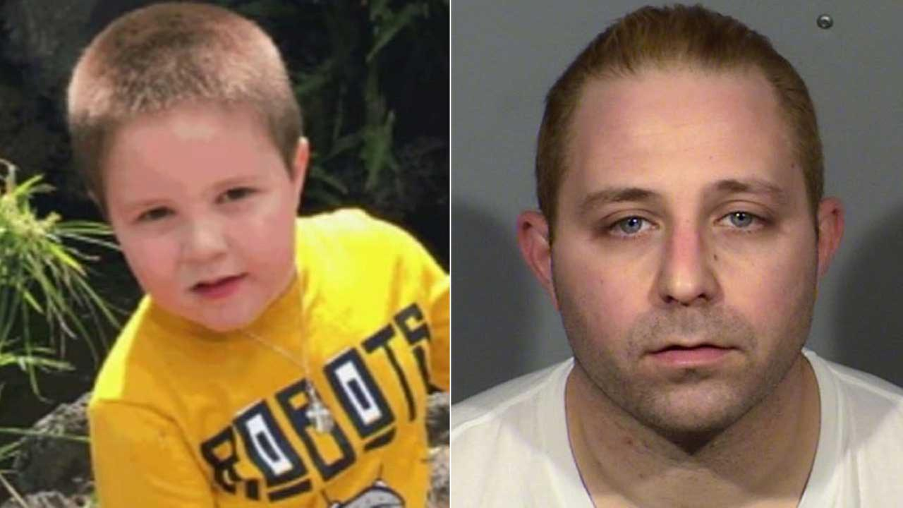 Aramazd Andressian Sr., right, is seen in a booking photo from the Las Vegas Metropolitan Police Department. His son, Aramazd Andressian Jr., left, is seen in an undated photo.