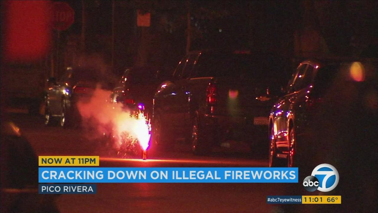 With some Southern California neighborhoods seeming like war zones this time of year, authorities are cracking down on illegal fireworks displays.