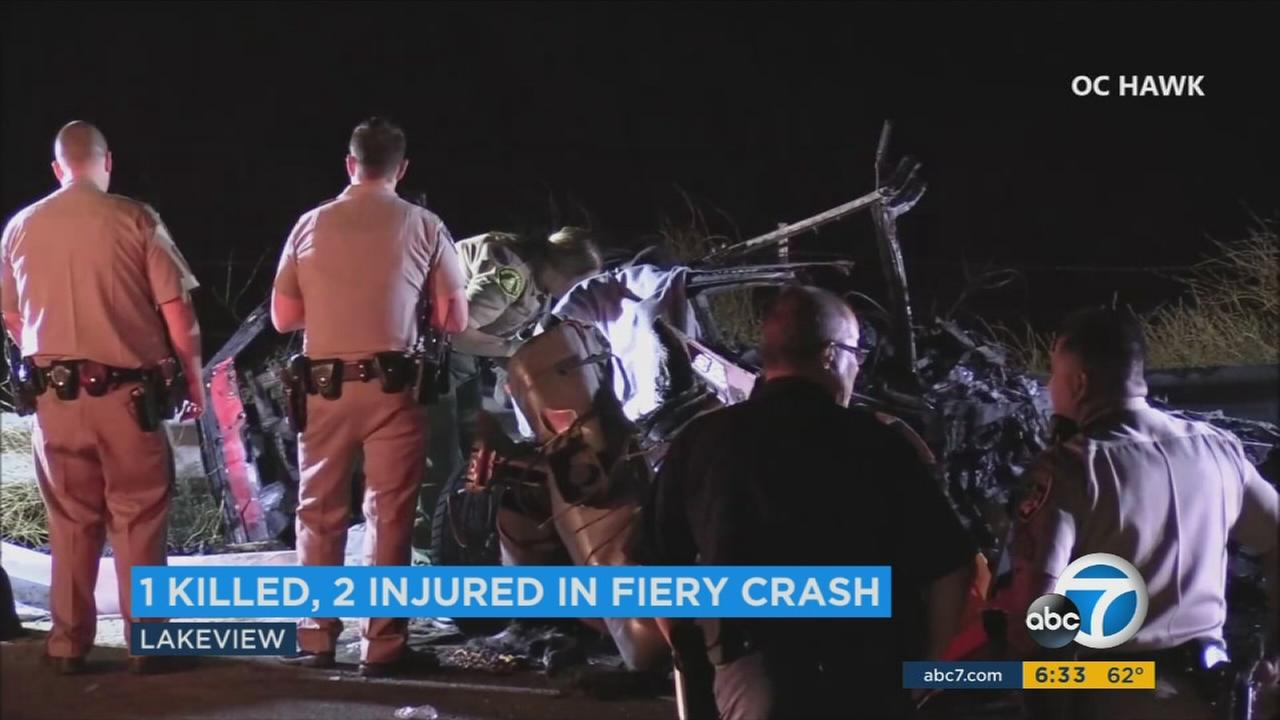 A car crash killed two people and injured another person Monday night in the unincorporated community of Lakeview.