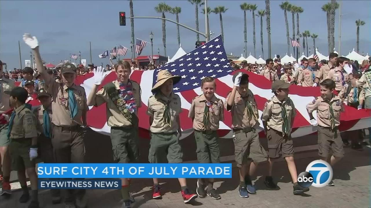 The two-hour parade kicked off at 10 a.m. off Pacific Coast Highway and 9th Street.
