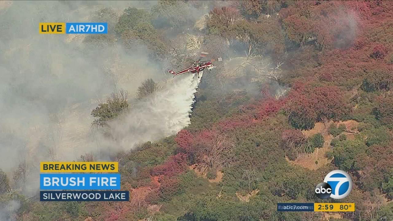 Silverwood Lake vegetation fire prompts evacuations – KABC-TV