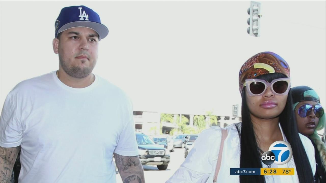 Robert Kardashian and Blac Chyna are shown in an undated photo.