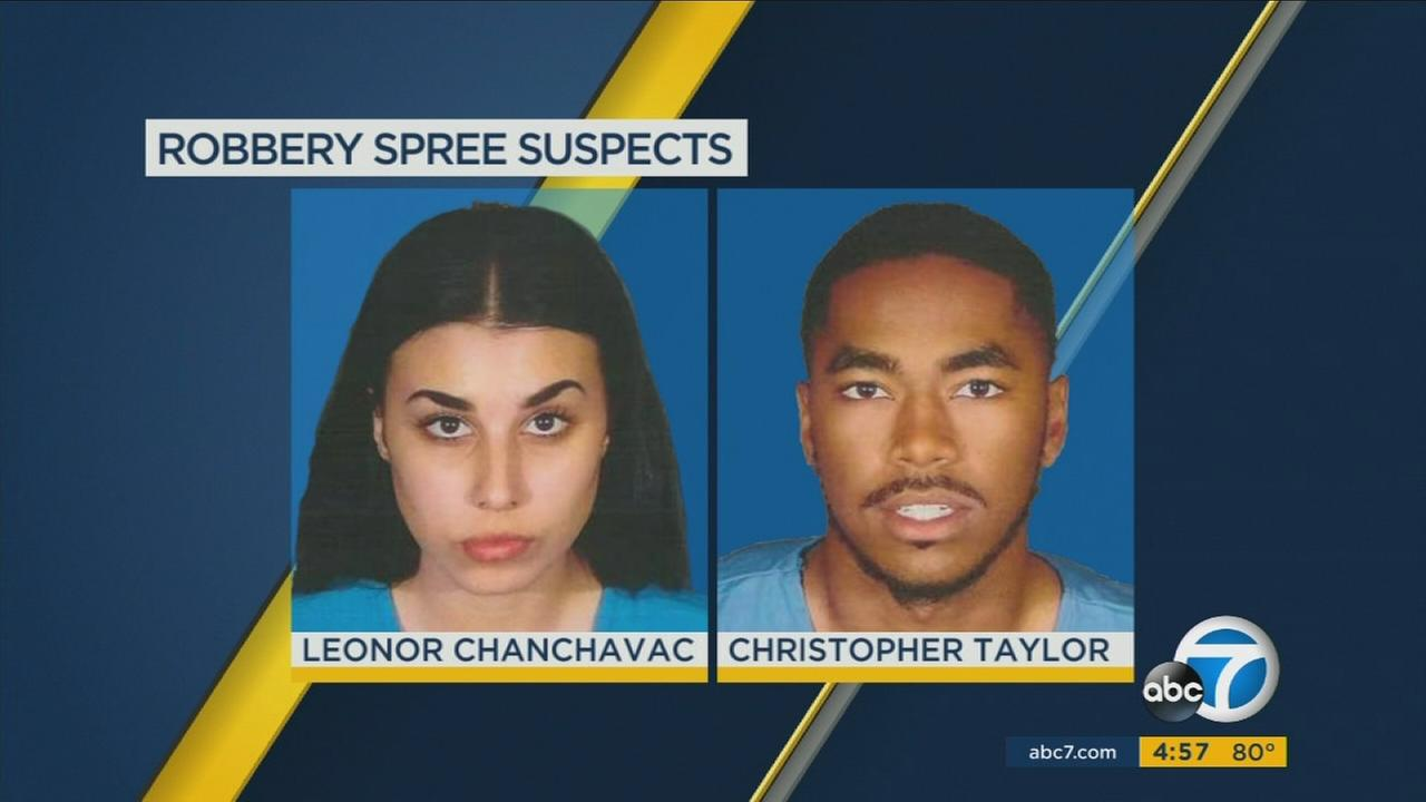 Christopher Taylor and Leonor Chanchavac are shown in mugshots.