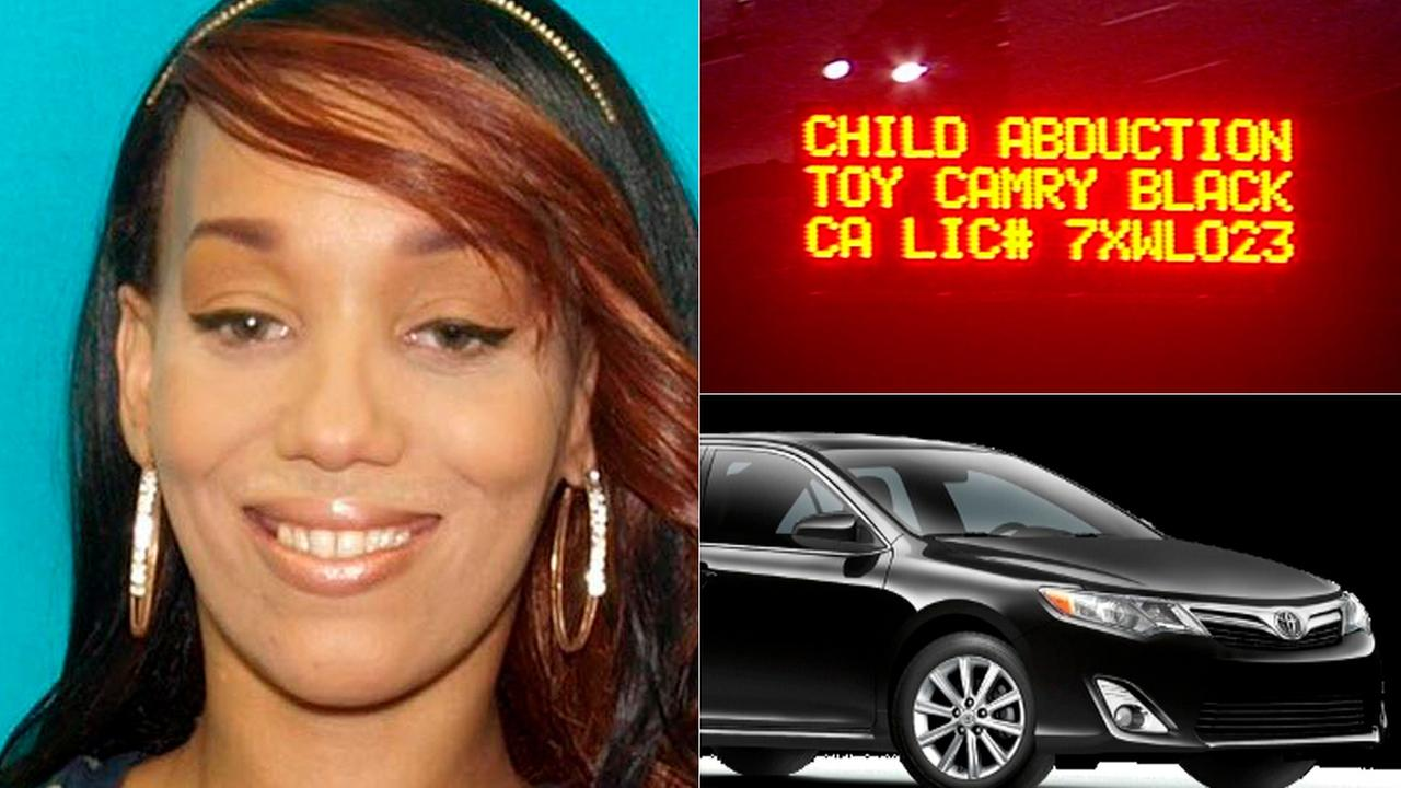 Amber Alert suspect Kandice Johnson, 31, was being sought after allegedly carjacking a black 2014 Toyota Camry with California license plate No. 7XWL02.