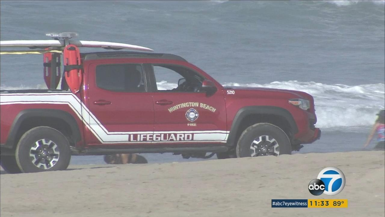 Rip currents and waves have led to hundreds of rescues in Southern California beaches over the weekend, and the danger remains for the next few days.