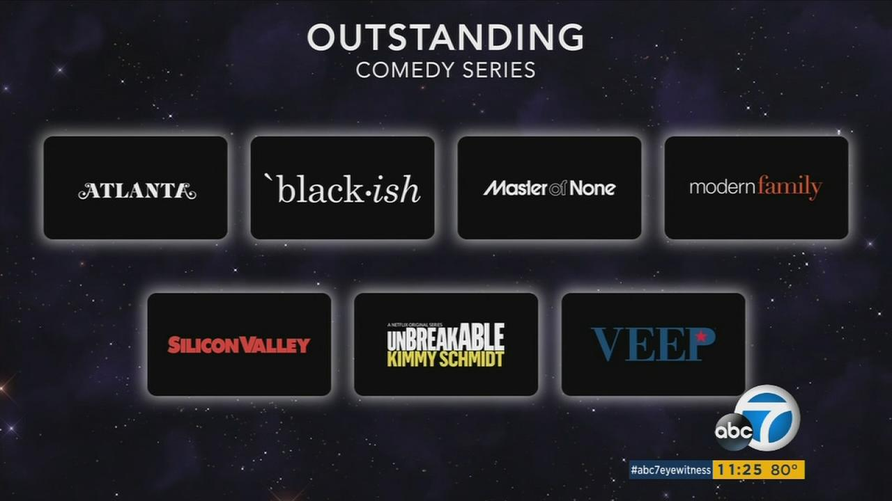 2017 Emmy nominees for outstanding comedy series, announced Thursday, July 13, 2017.