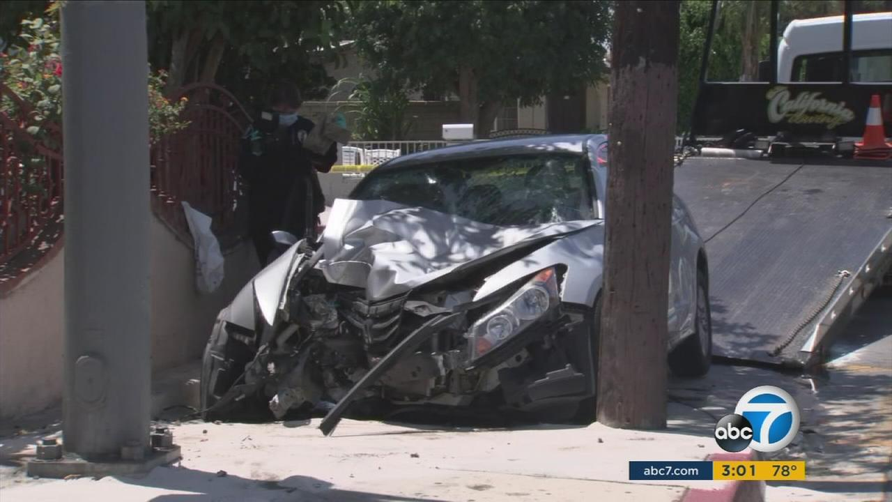 Five juveniles were injured after an underage, unlicensed driver suspected of driving under the influence struck pedestrians in Santa Ana on Thursday, according to the Orange County Fire Authority.