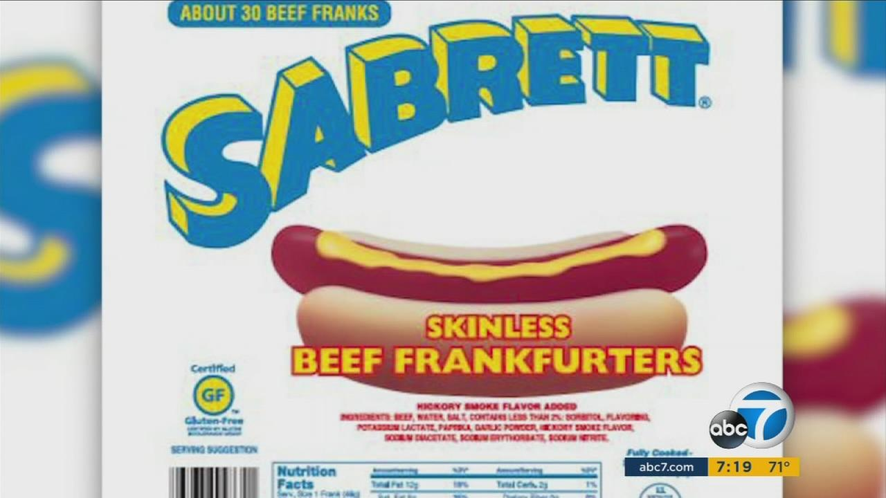 The maker of Sabrett hot dogs is recalling more than 7 million pounds of hot dogs because they may contain bone fragments.
