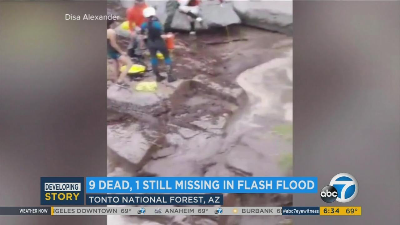 Footage of a swim hole in Arizona that killed at least nine people on Saturday, July 17, 2017.