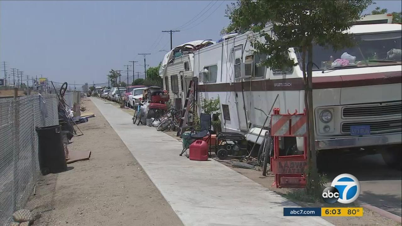 Dozens of RVs are towed every month. They end up in tow yards like Pepes in Wilmington and thats where they stay.