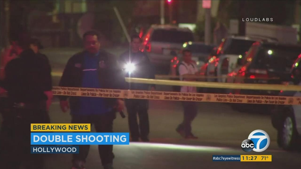 Two people, ages 15 and 25, were shot in Hollywood near Paramount Studios on Monday, July 18, 2017.
