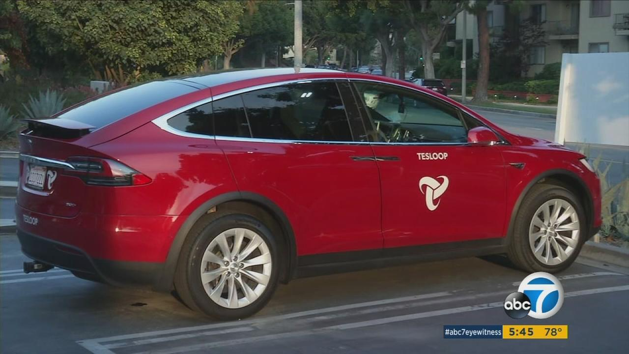 An undated photo of a Tesloop vehicle.