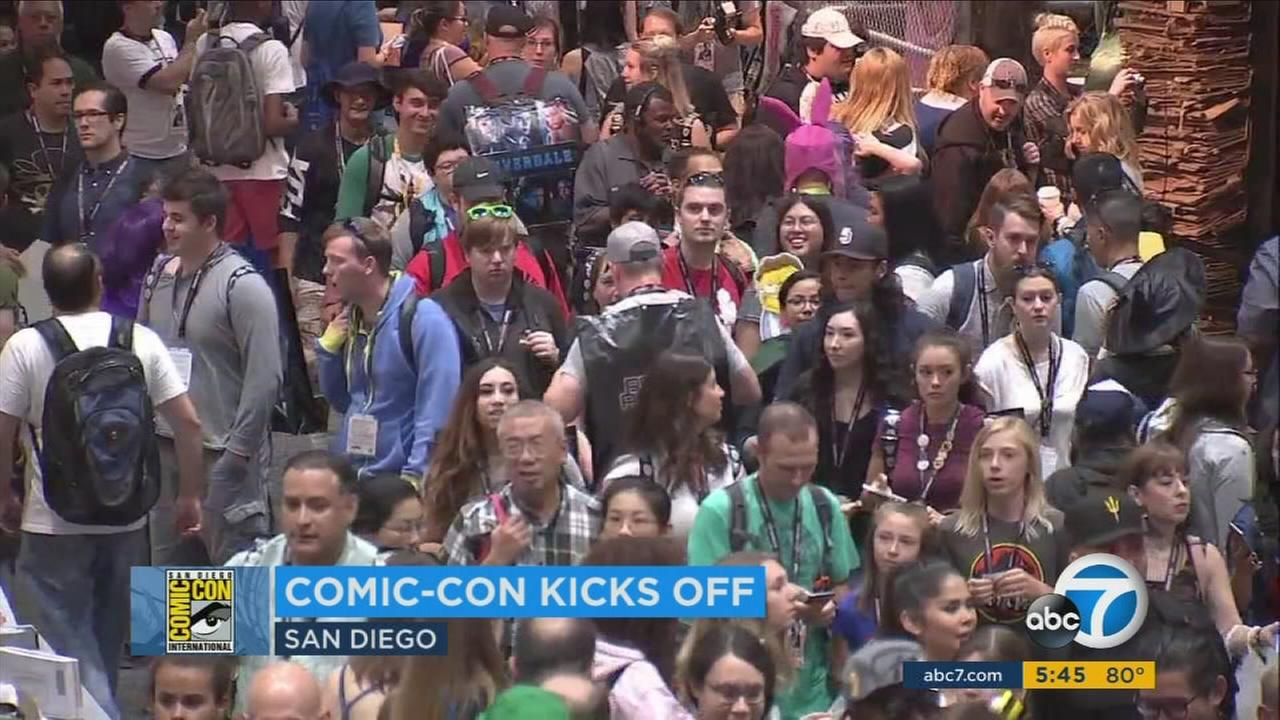 Thousands seen at Comic-Con in San Diego on Thursday, July 20, 2017.