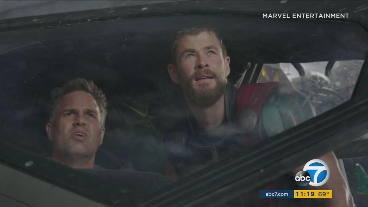 Chris Hemsworth as Thor and Mark Ruffalo as Hulk are shown in a new Thor: Ragnarok trailer.