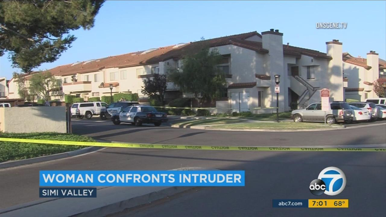 The Sinaloa Villas apartment complex in Simi Valley, where a woman was attacked in her home on Saturday, July 22, 2017.