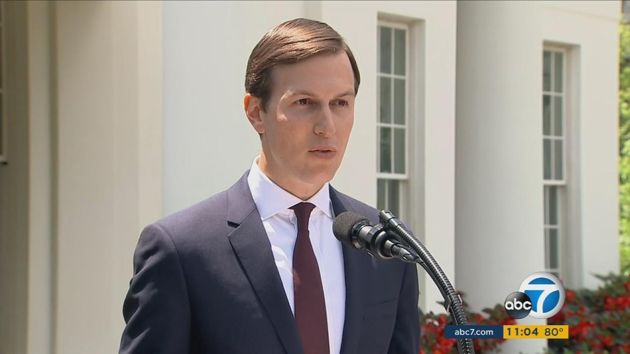 Jared Kushner speaks on Monday, July 24, 2017, at the White House regarding the Russia probe.