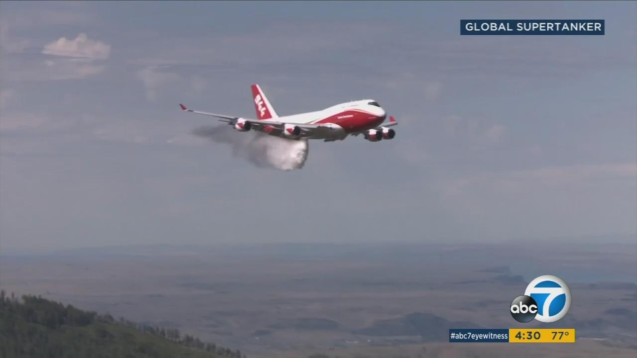 Global Supertanker is poised to help extinguish wildfires across California as the largest firefighting tanker in the world.