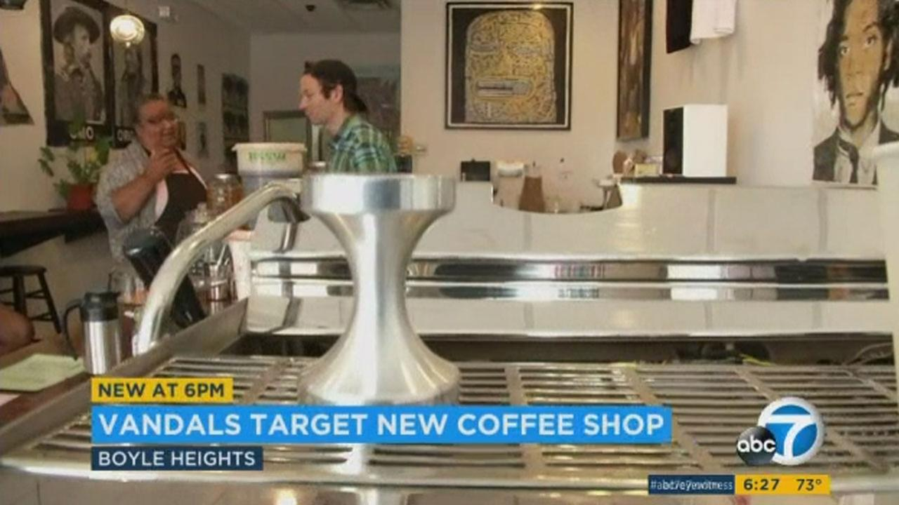 Weird Wave Coffee brewers in Boyle Heights opened up about six weeks ago, and according to co-owner Jackson Defa, protests began on their first day in business.