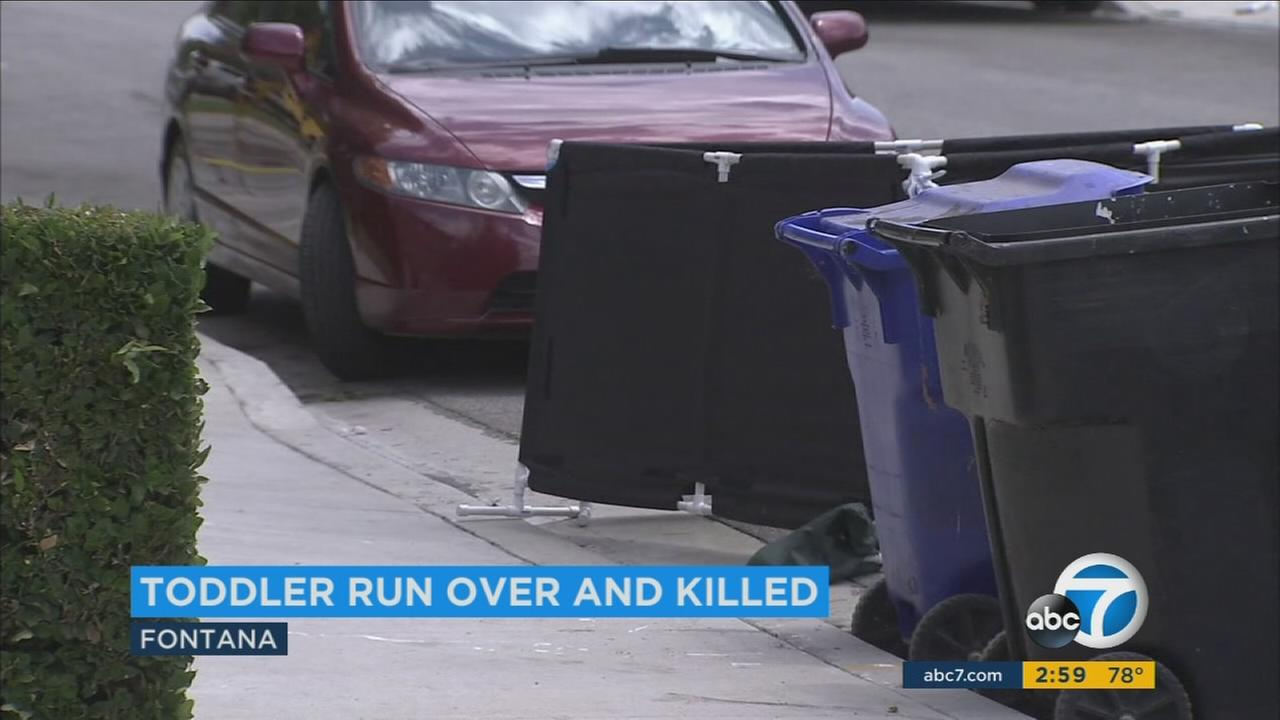A 2-year-old boy was fatally struck by a vehicle in what is believed to be an apparent family accident in Fontana, police say.