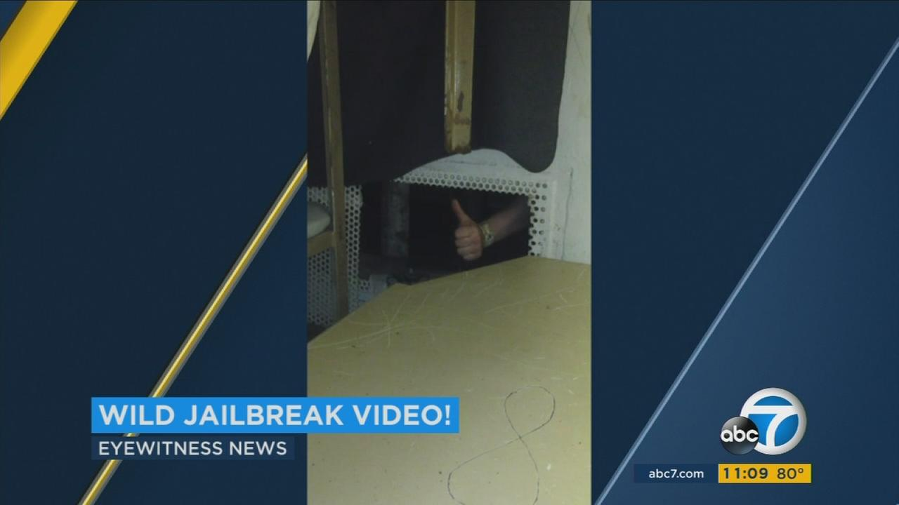Video shows three inmates escaping from the Orange County Central Mens Jail in January of 2016.