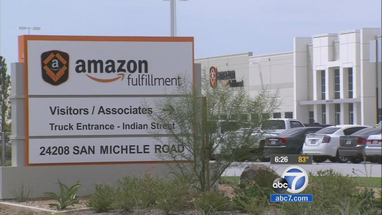 The Amazon distribution center in Moreno Valley is shown in this undated file photo.