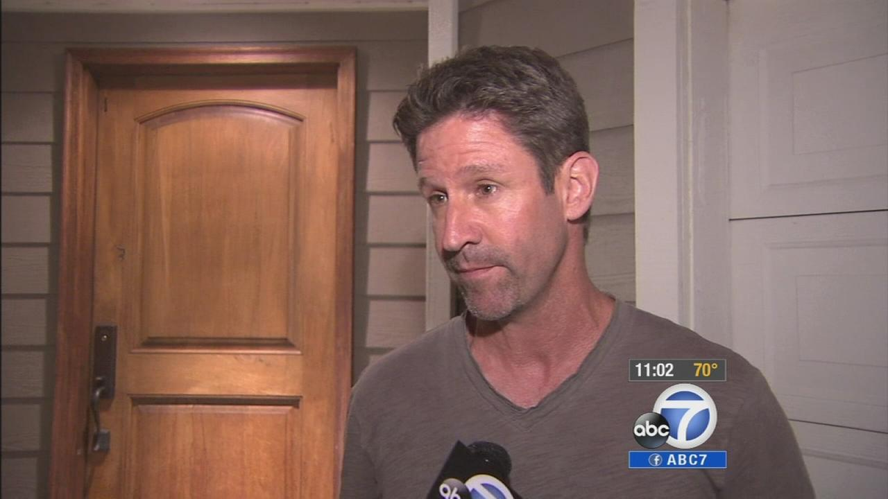 The father of a 14-year-old girl who called 911 as burglars tried to break into her Rossmoor home is shown on Monday, July 28, 2014.