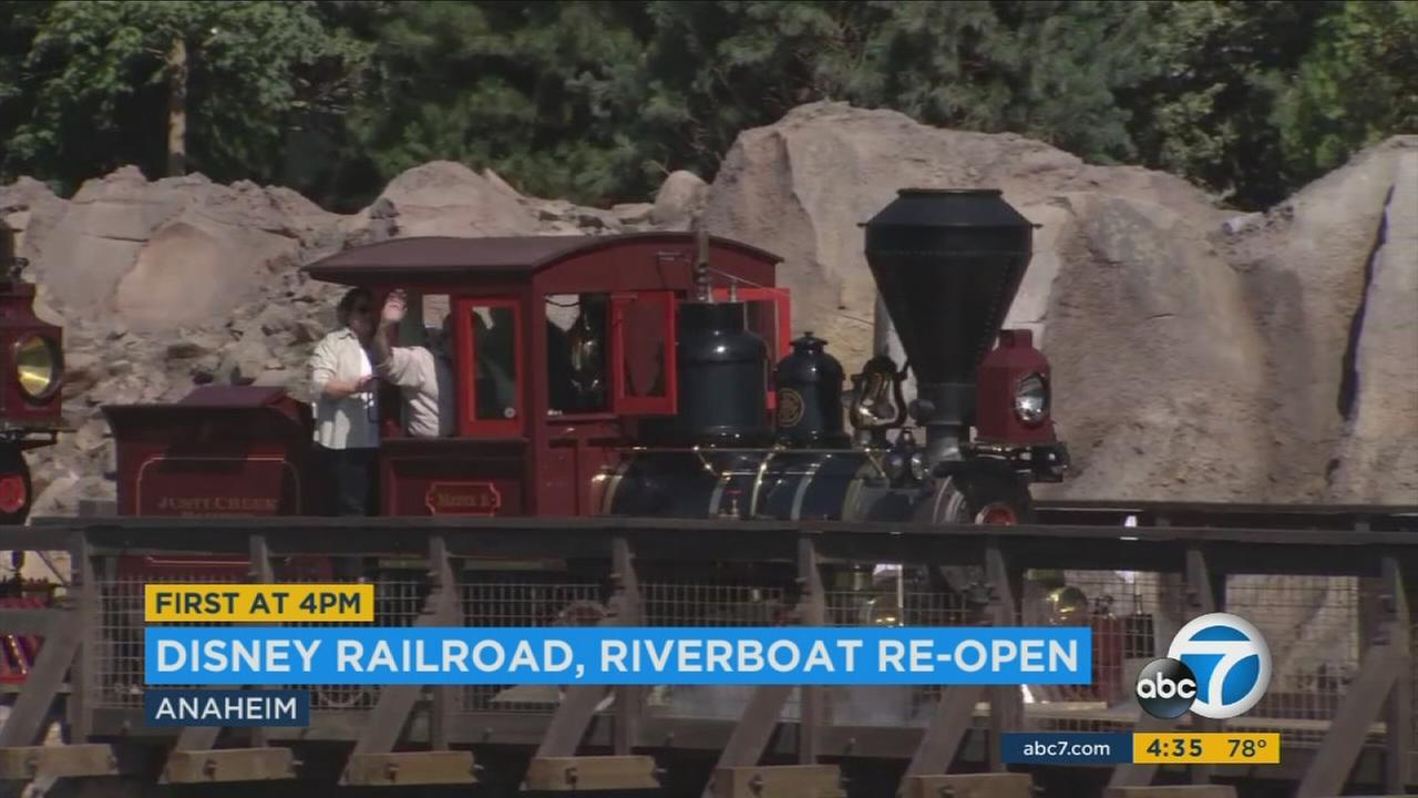 Popular Disneyland Railroad, Rivers of America reopen after 18-month closure