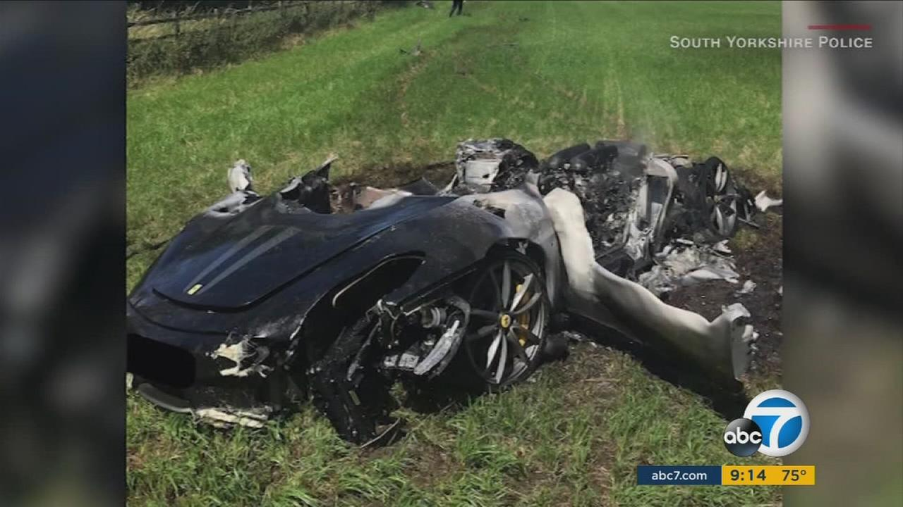 A British driver survived a major crash in his Ferrari, an hour after he bought it on Thursday, July 27, 2017.