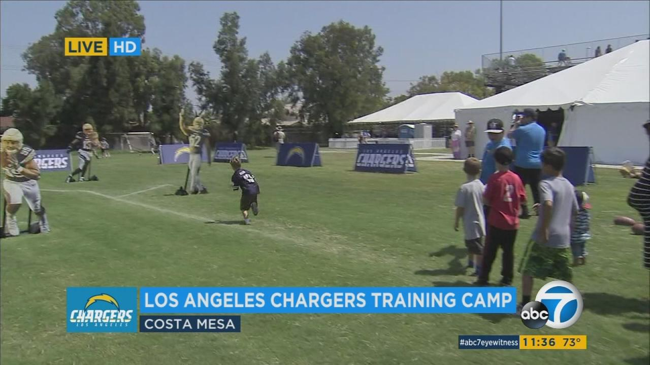 The Los Angeles Chargers training camp in Costa Mesa offered plenty of activities for kids.