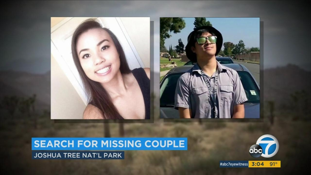 Amid triple-digit temperatures, authorities on Tuesday suspended the search for a Los Angeles-area couple that went missing days earlier while hiking in Joshua Tree National Park.
