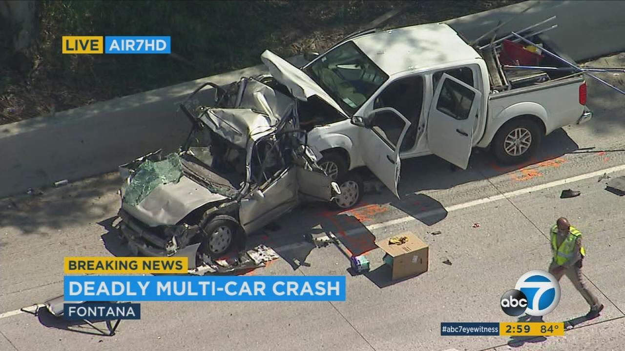 Fontana collision that killed 4 on 10 Fwy being investigated as DUI