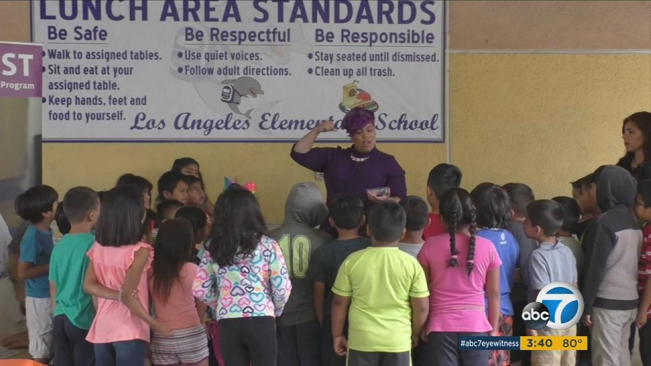 Summer at Los Angeles Elementary School offers a tasty lesson for kids in kindergarten through fifth grade.