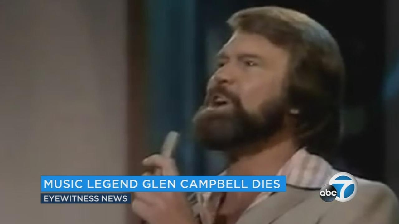 Glen Campbell is seen performing in this undated file photo.