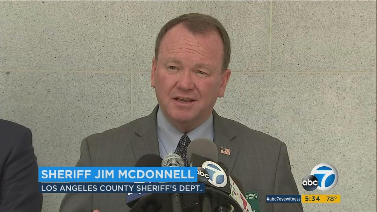 Los Angeles County Sheriff Jim McDonnell speaks about immigration enforcement at a news conference on Thursday, Aug. 10, 2017.
