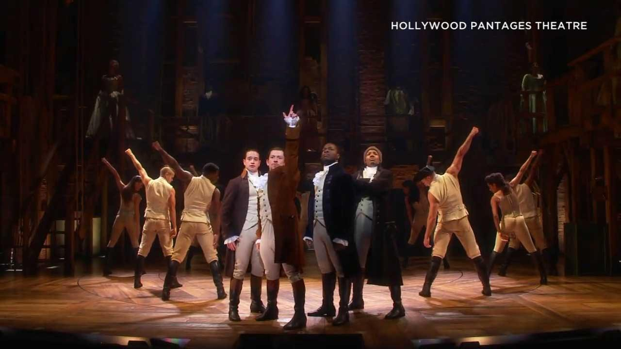 Hamilton performers are seen in this file image.