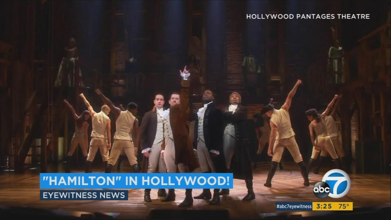 Hamilton, which had been the hottest ticket in New York for the last two years, opens at the Pantages Thursday night and runs through December.