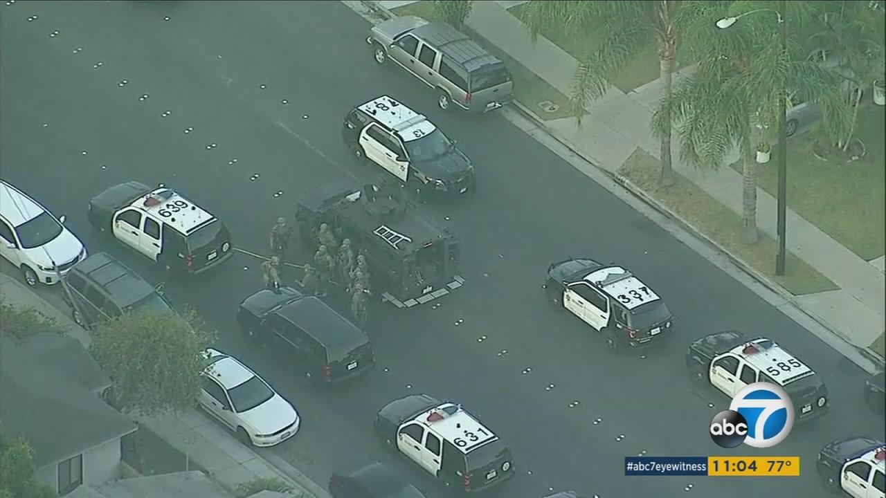 A carjacking suspect was found dead after barricading himself in a home in a Bellflower neighborhood, in an incident that prompted some residents to be evacuated early Thursday morning.