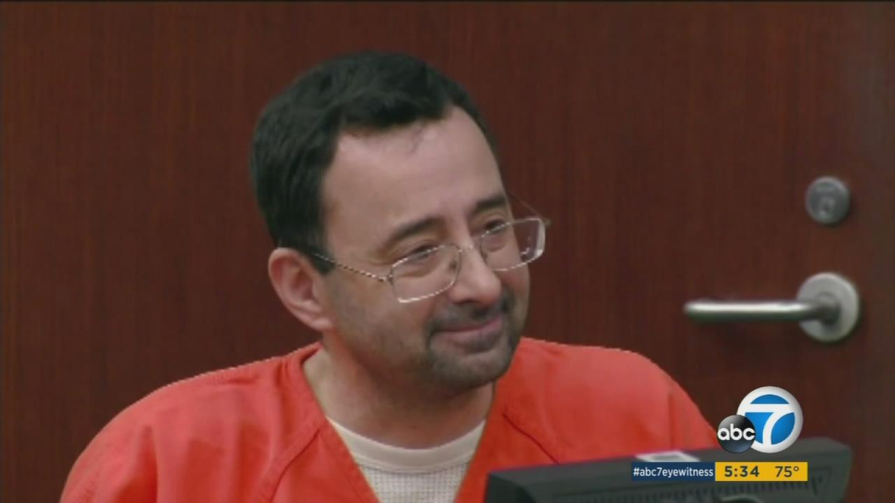 Dr. Larry Nassar is shown during a court appearance in a file photo.
