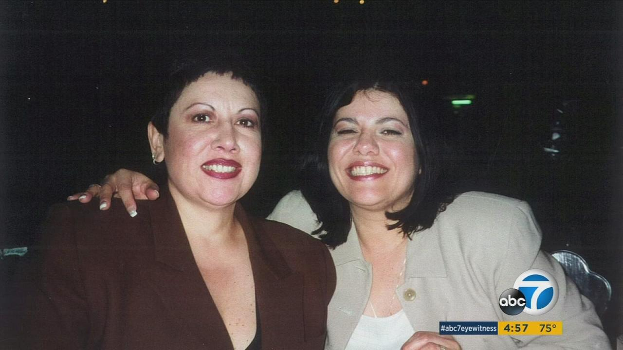 Judith Dominguez and her wife Patricia Martinez are shown in an old photo.