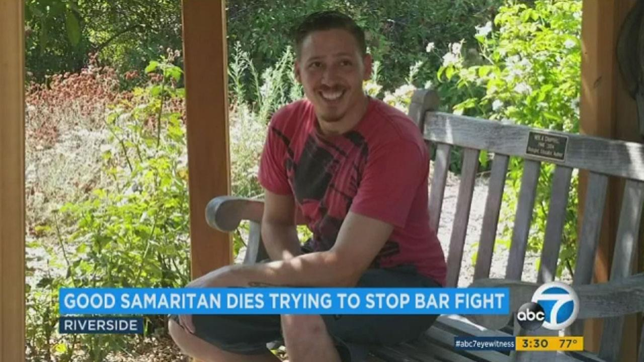 The family of Adam Valles said he was just trying to help when he stepped into the middle of a bar fight. The Good Samaritan ended up paying with his life.