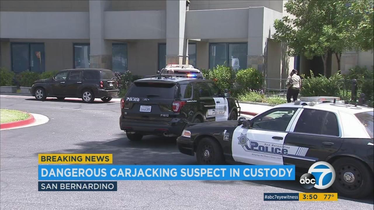 Police said it all started when the suspect dropped off a stabbing victim at 10 a.m. Friday at Community Hospital. He pulled a gun on the security guard, carjacked someone in the parking lot and took off, according to authorities.