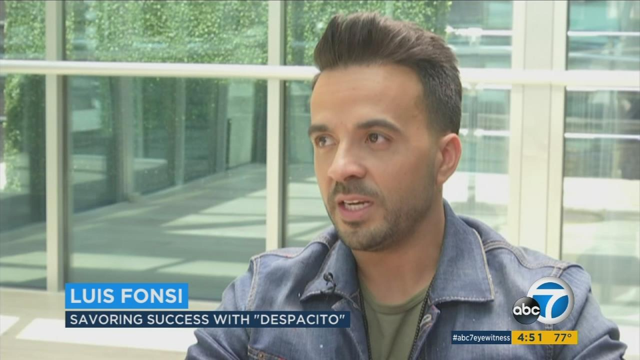 Luis Fonsi is shown talking about his worldwide success for his song Despacito.