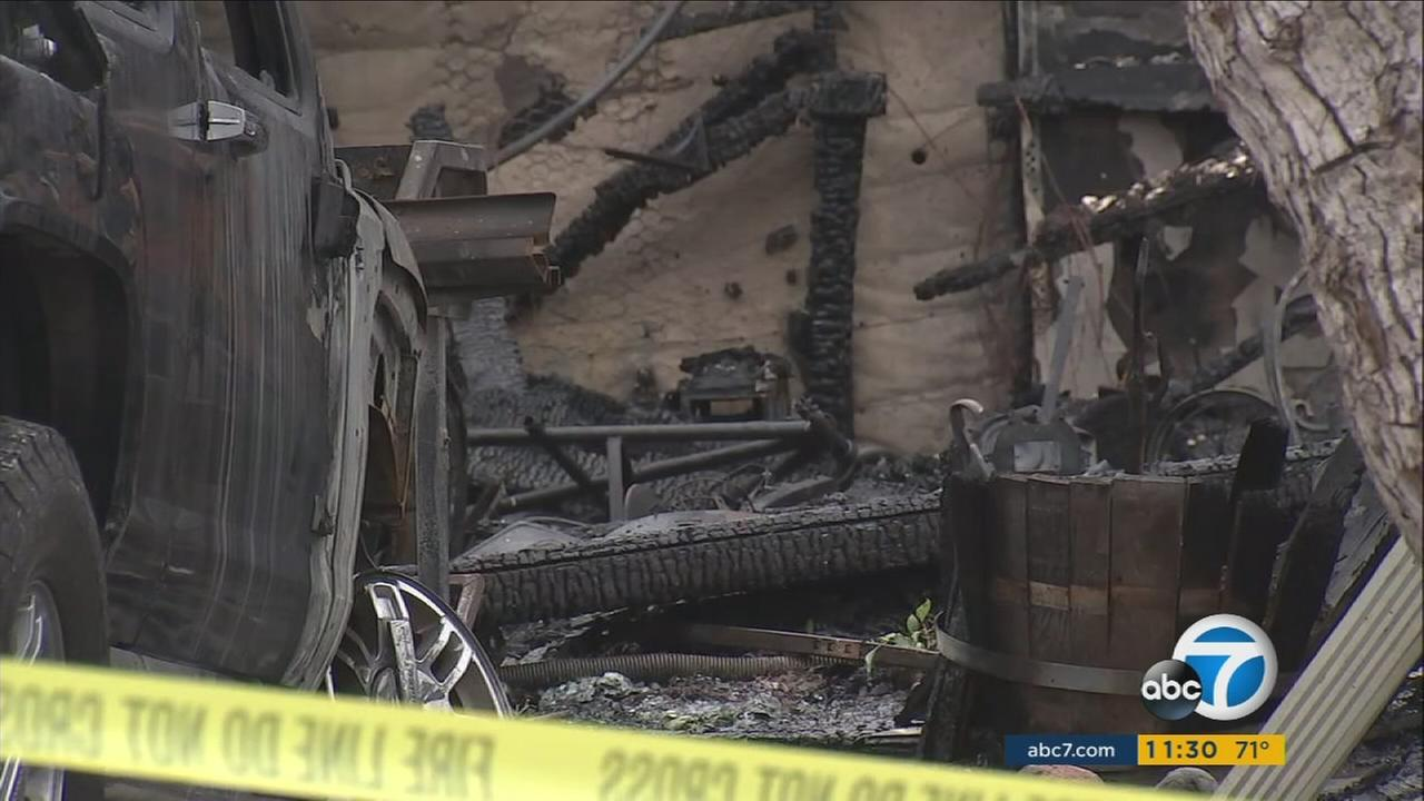 A San Clemente home was left charred after a fire ripped through the residence on Thursday, Aug. 24, 2017.