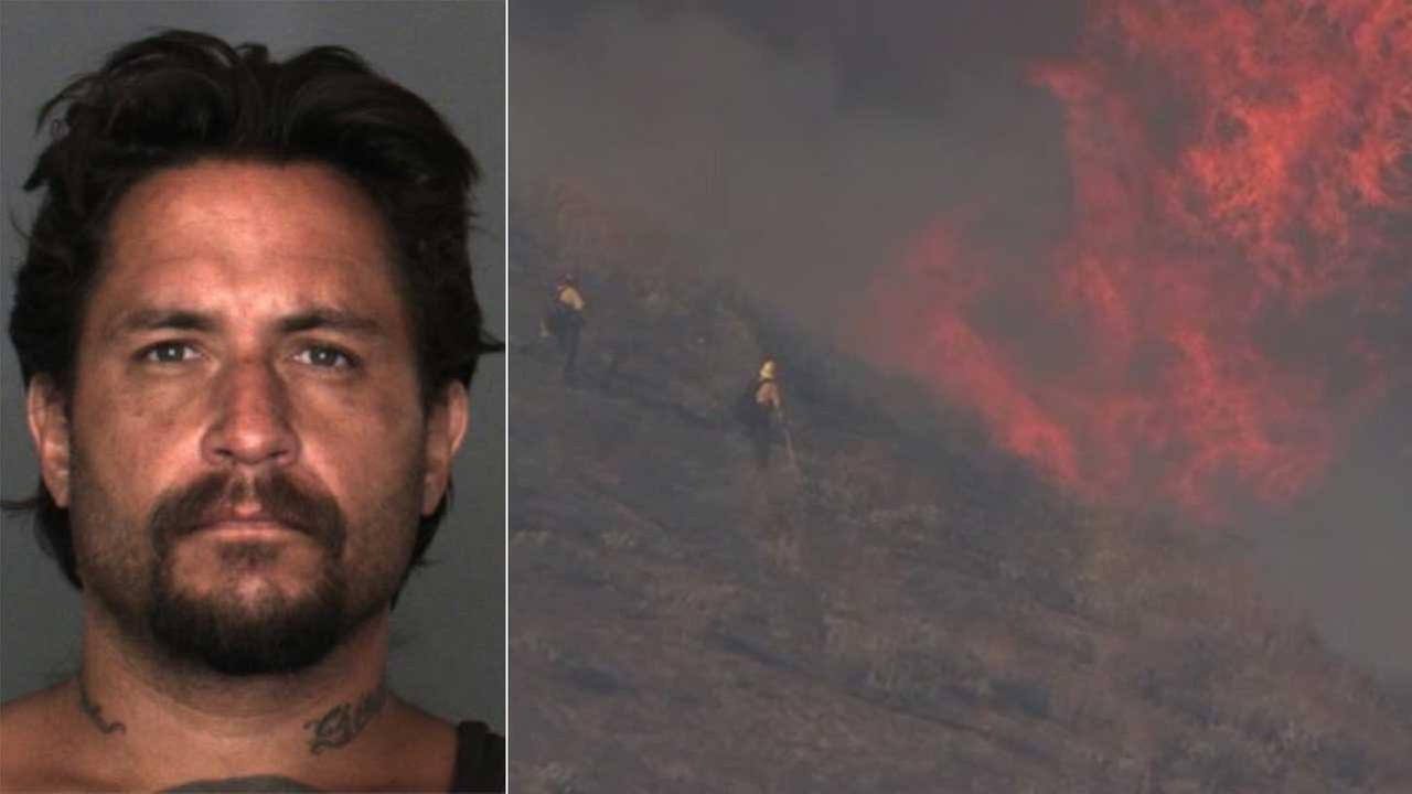 Peter Granados, left, confessed to setting at least eight fires in the Inland Empire.