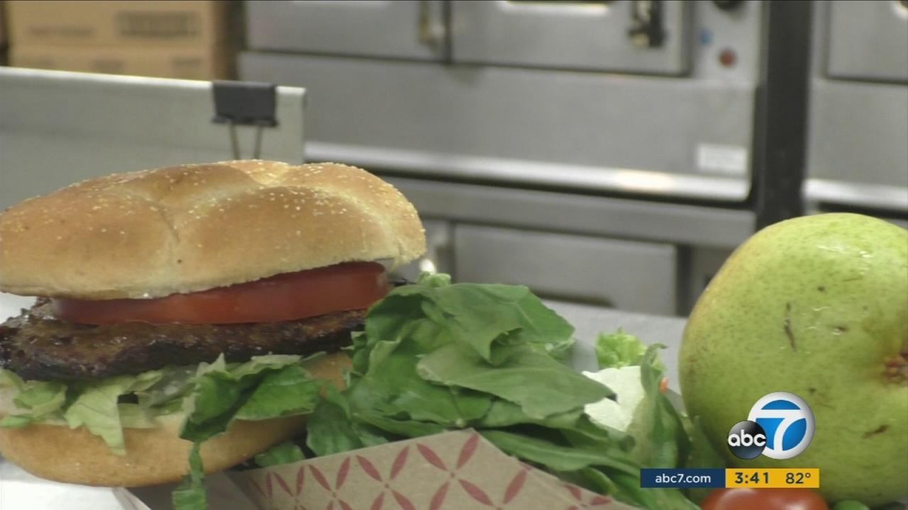 The food delivery to North Hollywood High has a few extras this year. Theyre part of a Los Angeles Unified School District pilot program that is providing vegan food options for select schools this fall.
