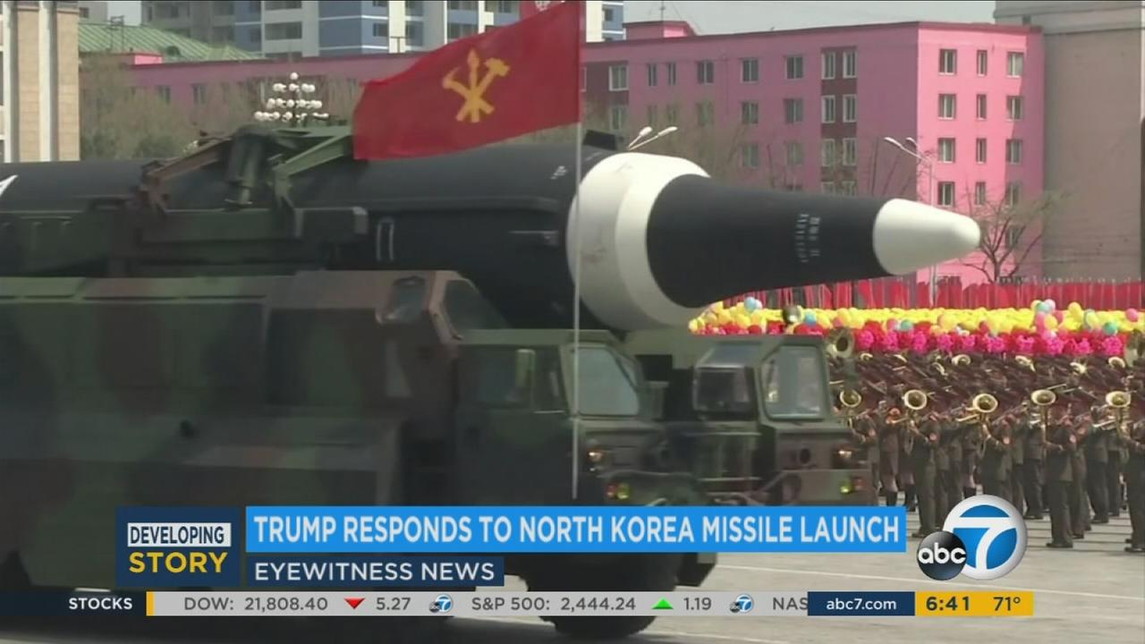 An undated photo of a North Korean missile.