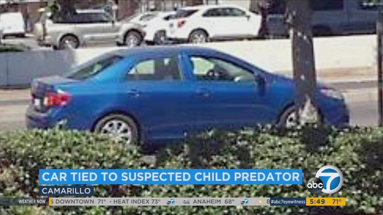 Camarillo police need your help finding a blue car and its driver, who is accused of attempting to lure a young girl into his vehicle.