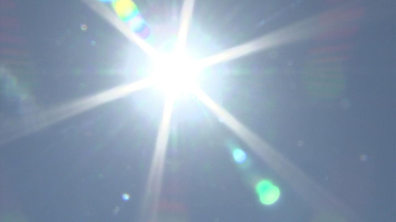 A shot of the scorching sun during a Southern California heat wave on Tuesday, Aug. 29, 2017.