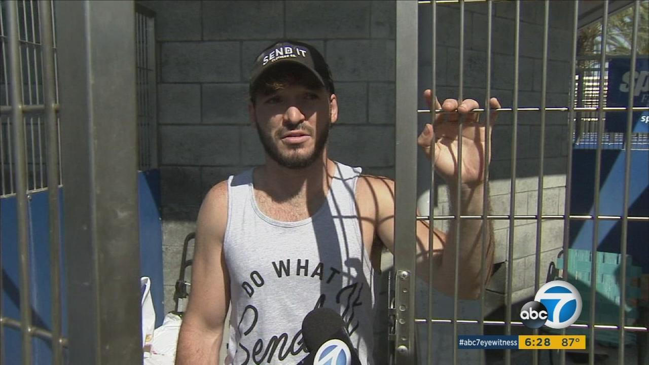 YouTube star Elton Castee has confined himself to an SPCA LA cage to raise money for local animal shelters, in addition to helping victims of Hurricane Harvey.
