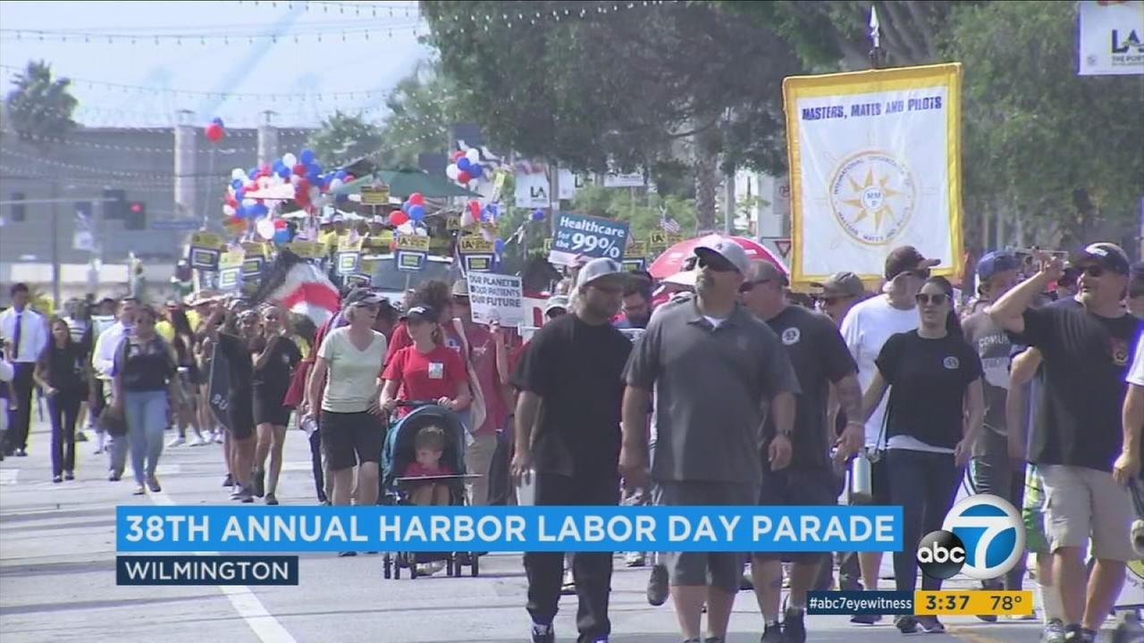 Labor Day was celebrated all around Southern California Monday with parades and barbecues in addition to reminders about the importance of the American worker.